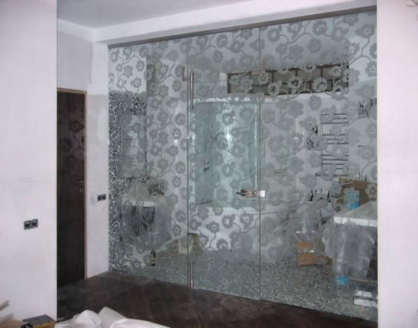 дизайн стеклянной перегородки