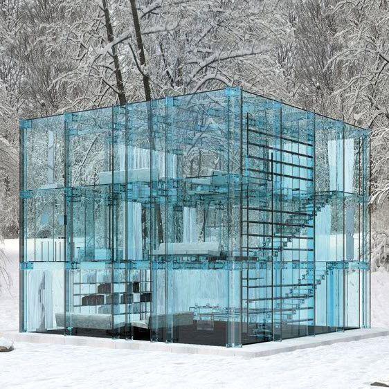 Дизайнерское решение из стекла