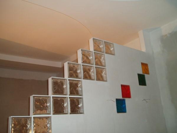 оформление перегородки стеклом