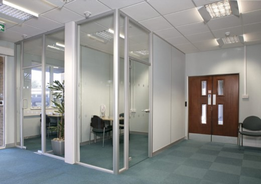 кабинет из стекла