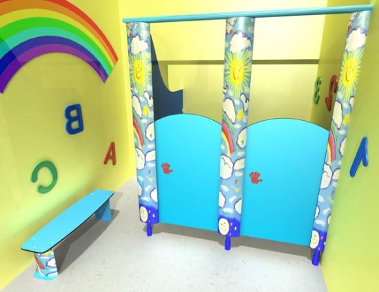 дверцы в детском туалете