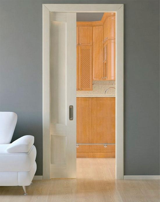 раздвижная дверь в стену
