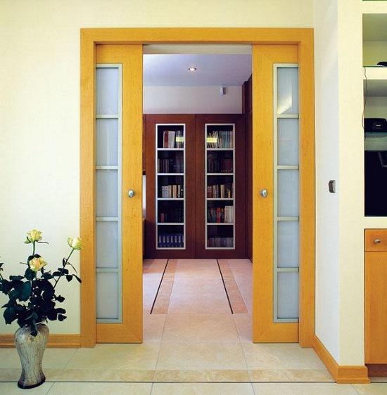 раздвижные двери задвигающиеся в стену