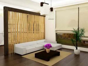 межкомнатная перегородка из бамбука