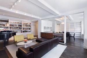 разделение гостиной и кухни
